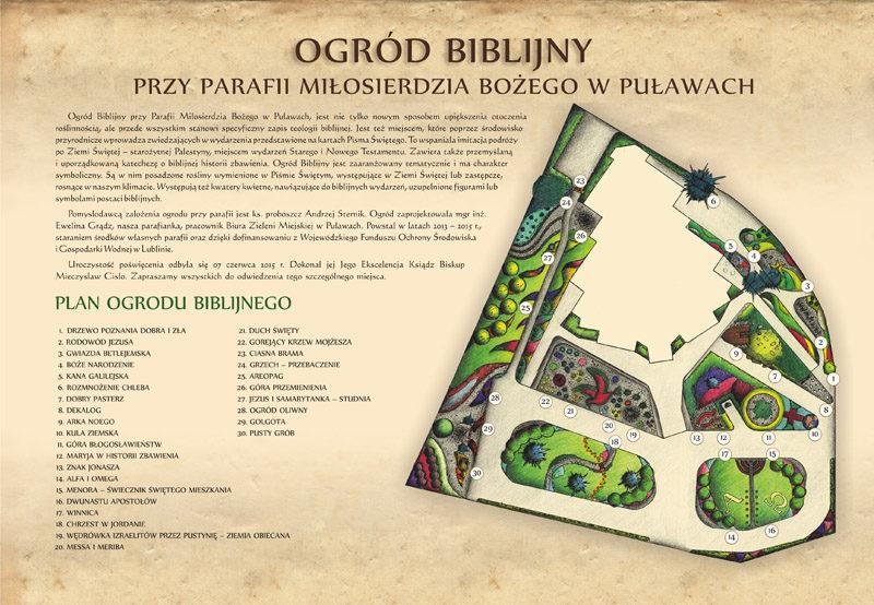 Tablica Ogrod Biblijny porady ogrodowe